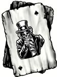 B&W Ace Playing cards With Old School Your Country Needs You Skull Motif Vinyl Car Sticker 100x75mm